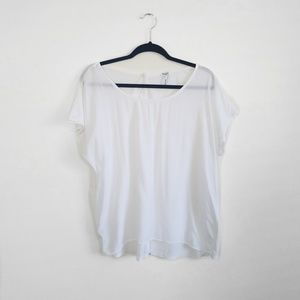 Splendid White Button Back Drapey Tee
